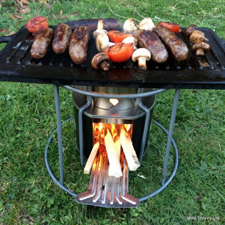 EzyStove as a BBQ