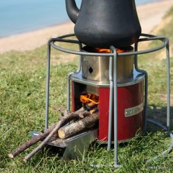 Ezystove wood fuelled rocket stove wild stoves for Portable rocket stove plans