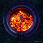 Wood pellets in wild woodgas stove
