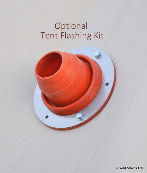 Tent flashing on canvas