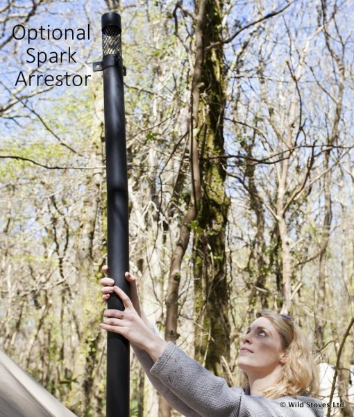 The Frontier stove with spark arrestor