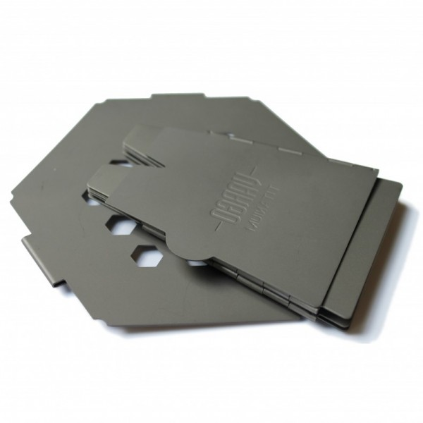 Vargo Titanium Hex Stove folded