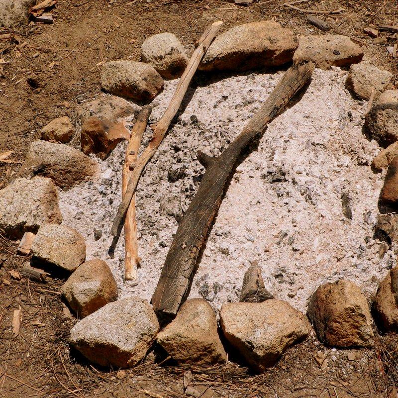 Campfire ash