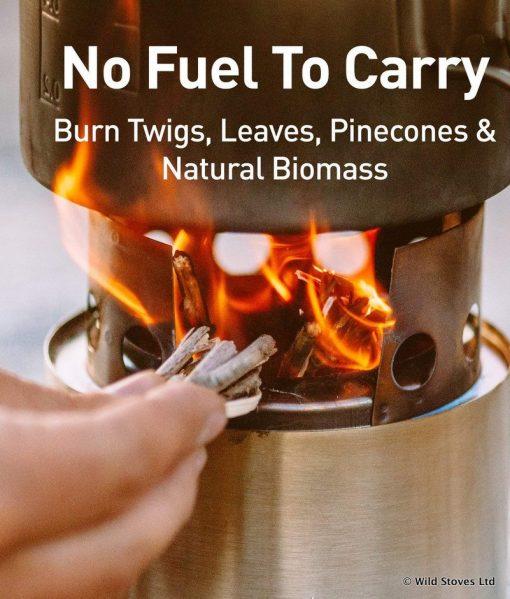 Solo Stove Lite Feeding Fuel