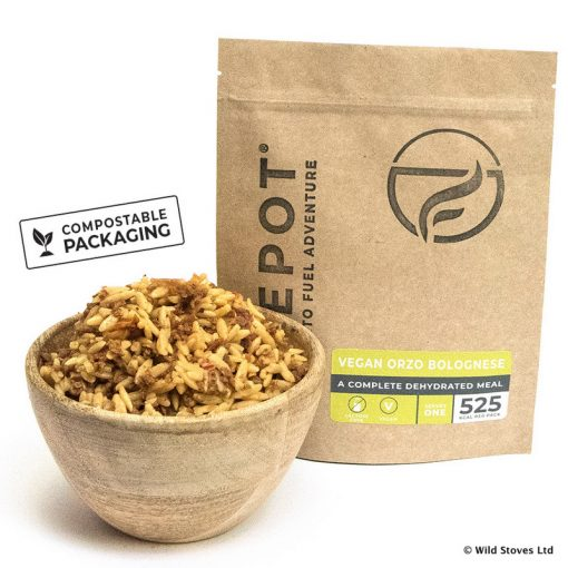Firepot Food 0012 Vegan Orzo Compostable pack