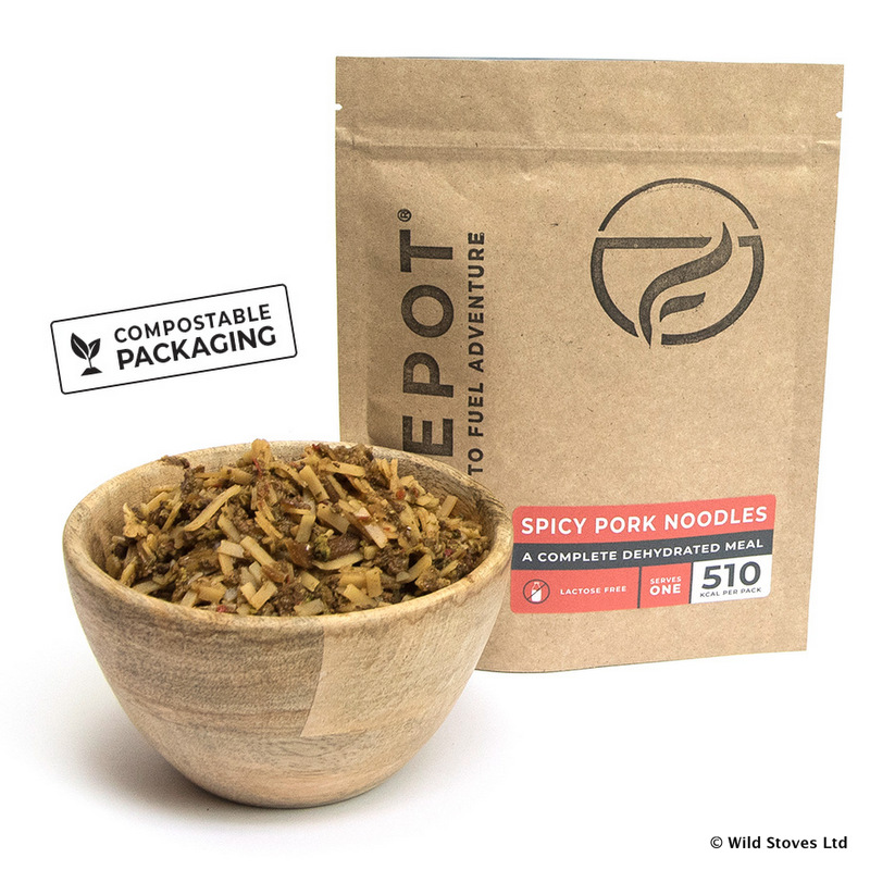Spicy Pork Noodles Firepot Dehydrated Meals From Dorset