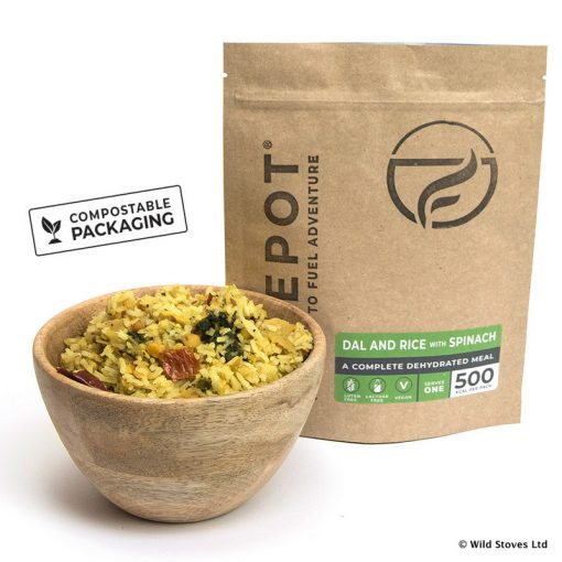 Firepot Food 0018 Dehydrated Dal Compostable packing