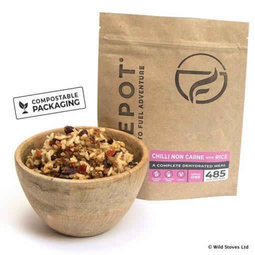 Firepot dehydrated Food 0006 Vegan Chilli Compostable